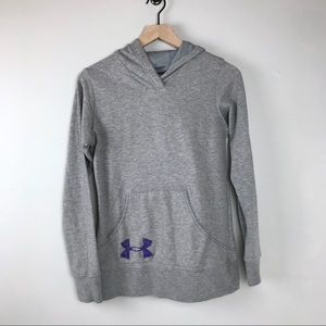 🍄Under Armour hoodie women's medium grey purple